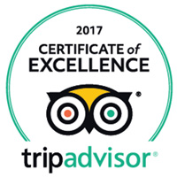 Certificate of Excellence from Trip Advisor 2017